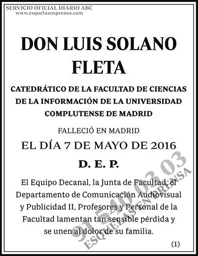 Luis Solano Fleta